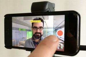 Imagen de una autograbación de vídeo hecha con un móvil